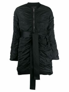 Giambattista Valli ruched coat - Black