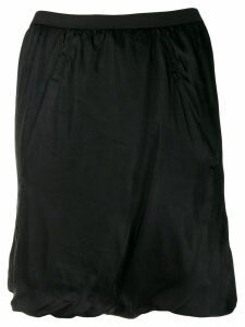 Rick Owens ruched design skirt - Black