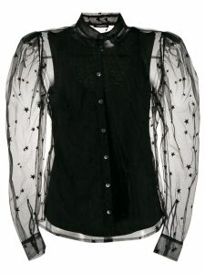P.A.R.O.S.H. sheer sleeve shirt - Black