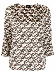 Liu Jo all-over logo blouse - Neutrals