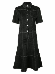 Proenza Schouler PSWL Washed Button Front Dress - Washed black