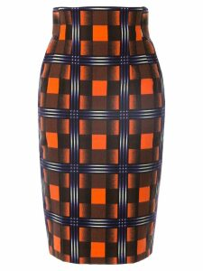 Facetasm high waisted pencil skirt - Orange