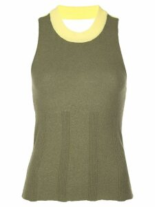 Eckhaus Latta two-tone tank top - Green