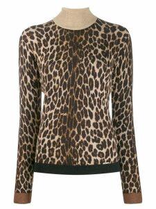 Liu Jo leopard intarsia-knit jumper - Neutrals