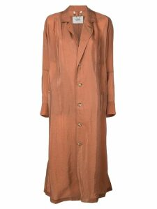 Rachel Comey long single-breasted coat - Orange