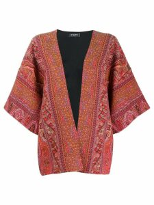 Etro all-over jacquard jacket - Red