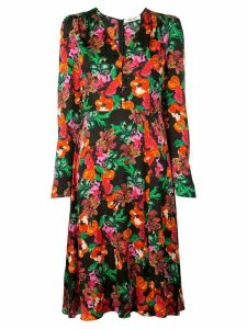 Diane von Furstenberg floral print dress - Black
