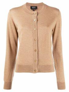 A.P.C. button up cardigan - Neutrals