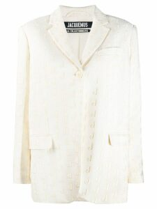 Jacquemus embroidered J blazer - Neutrals