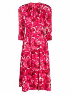 Elisabetta Franchi floral print flared dress - Pink