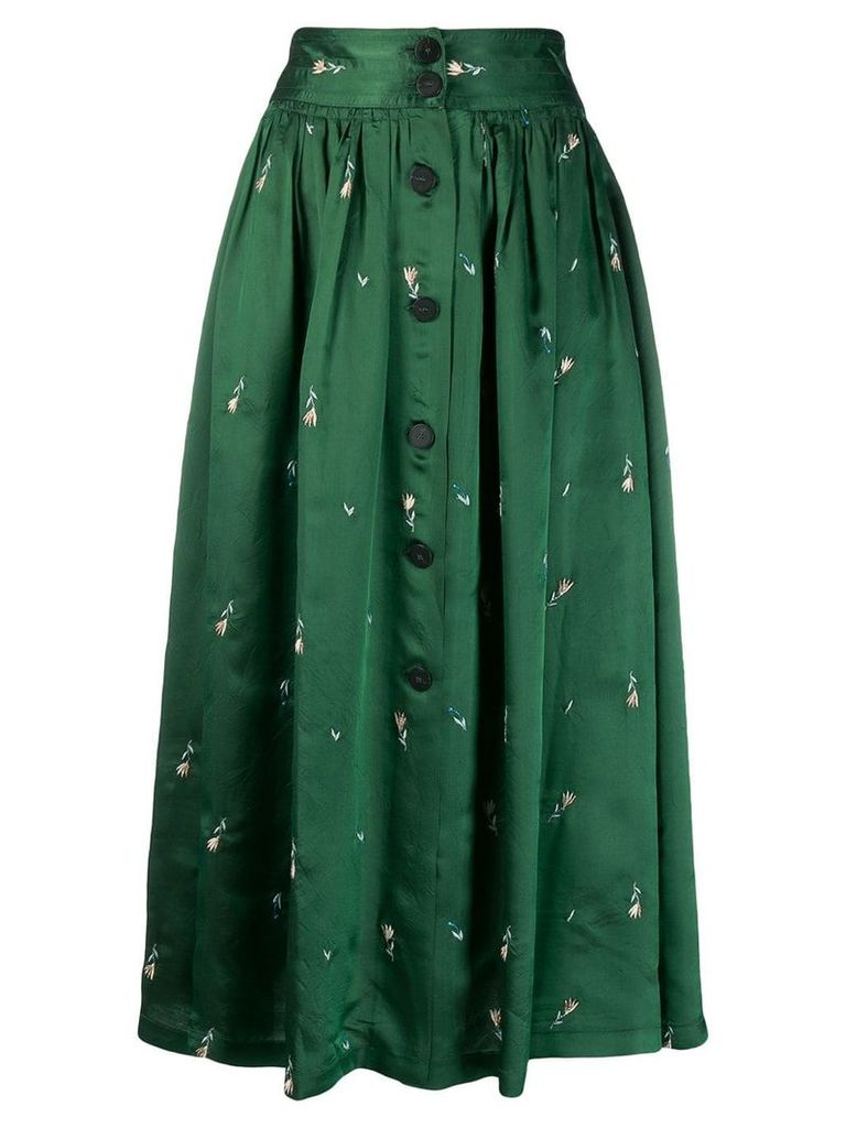 Forte Forte button-up midi skirt - Green