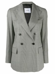 Dondup double-breasted houndstooth blazer - Black