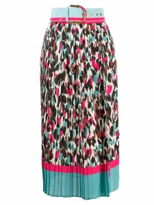 Elisabetta Franchi printed pleated skirt - Pink