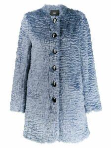 Steffen Schraut faux-fur coat - Blue