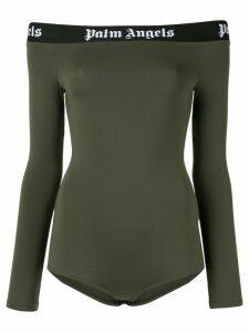 Palm Angels off-shoulder bodysuit - Green