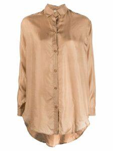 Mes Demoiselles textured shirt - Neutrals