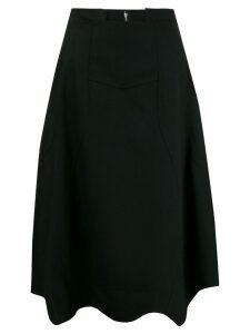 Comme Des Garçons A-line asymmetric skirt - Black