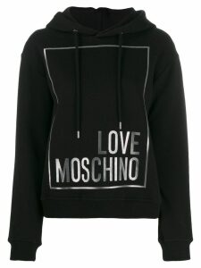 Love Moschino logo print hoodie - Black