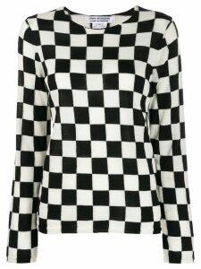 Comme Des Garçons Comme Des Garçons checkered jumper - Black
