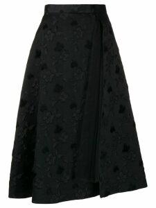 Comme Des Garçons Noir Kei Ninomiya floral jacquard midi skirt - Black