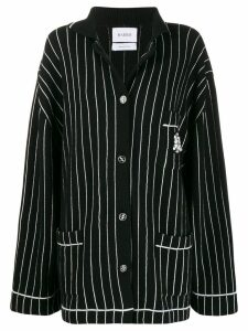 Barrie striped dropped-shoulder cardigan - Black