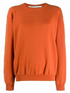 Off-White arrows print sweatshirt - ORANGE