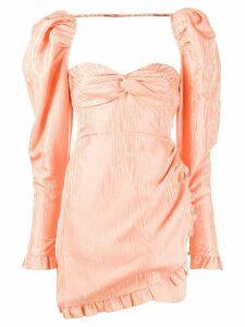 Alessandra Rich textured print dress - Pink