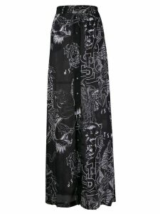 Diesel printed button up skirt - Black
