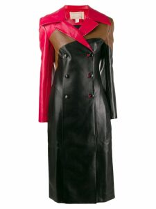 Matériel panelled coat - Black