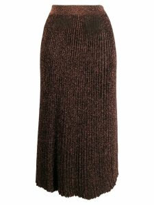 Michael Kors Collection glitter detail pleated skirt - Black