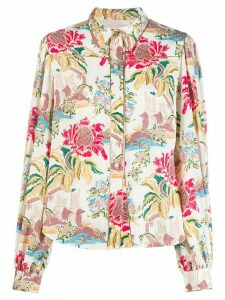 Peter Pilotto floral print shirt - White