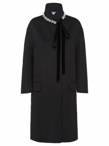Prada Double Cashgora Coat - Black
