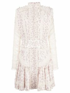 Zimmermann floral print dress - White