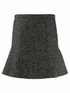 Red Valentino herringbone flared skirt - Grey