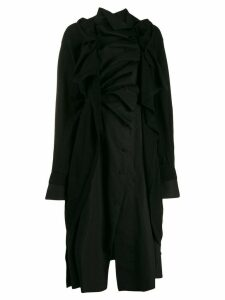 Aganovich ruffled shirt dress - Black