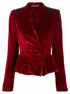 Aganovich fitted peplum jacket - Red