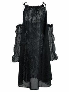 Renli Su oversized cold-shoulder dress - Black