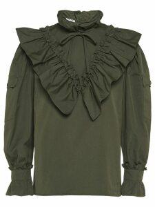 Miu Miu ruffled blouse - Green