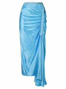Christopher Esber ruched midi skirt - Blue
