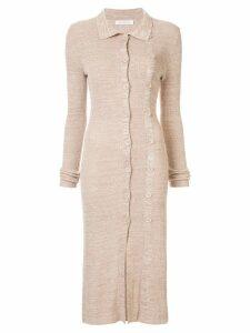 Christopher Esber knitted midi dress - Brown