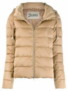 Herno hooded padded jacket - Brown