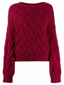 Brunello Cucinelli cable knit jumper - Pink