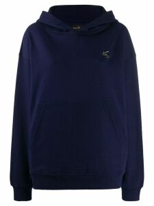 Vivienne Westwood Anglomania embroidered logo hoodie - Blue