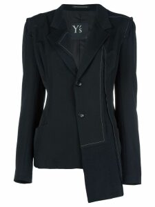 Y's asymmetric fitted blazer - Black