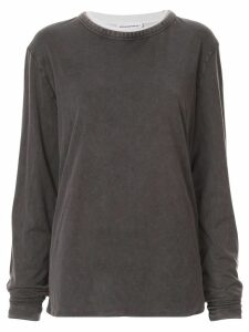 Alexander Wang reversible design T-shirt - Grey