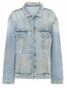 Miu Miu distressed denim jacket - Blue