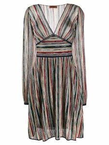 Missoni striped knitted dress - Blue