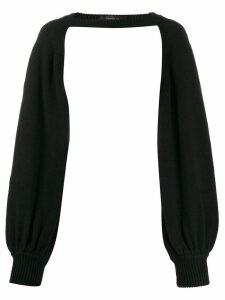 Federica Tosi long-sleeve cropped top - Black