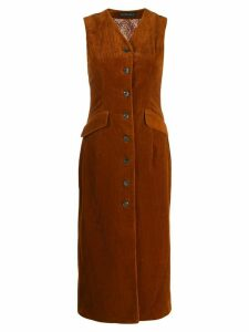 Etro corduroy button-up dress - Brown