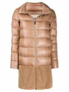 Herno midi padded jacket - Neutrals